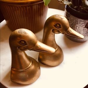 Mid Century Brass Bookends